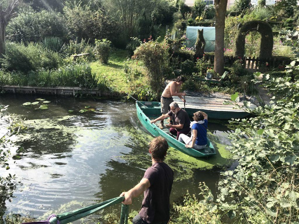 traversée du vieux en barque