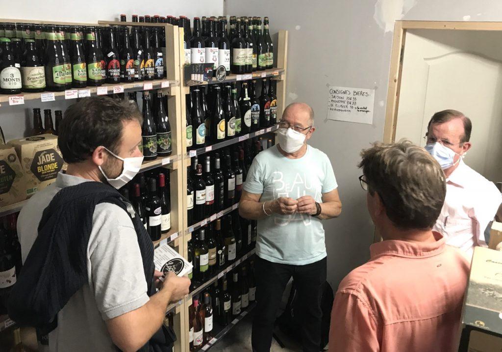 les étagère vins bières et spiritueux !